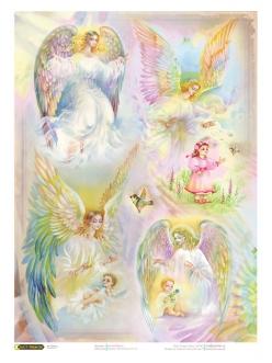 Рисовая бумага для декупажа Ангел хранитель,21x29,7см Craft Premier