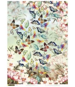 "Рисовая бумага CPD0634 ""Бабочки"", 28,2х38,4 см, Craft Premier (Россия)"