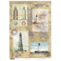 """Рисовая бумага """"Старые маяки"""" 21×29,7 см, Craft Premier"""