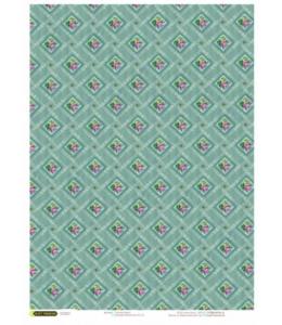 """Рисовая бумага CPD0679 """"Обои с розочками"""", 28,2х38,4 см, Craft Premier (Россия)"""