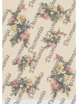 Рисовая бумага Decomania 5056 Букетик роз, 35х50см
