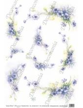 """Рисовая бумага Decomania AM7722 """"Нежные цветы"""" (серия Sonie Ames), 35х50 см"""