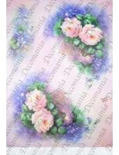 """Рисовая бумага Decomania AM7710  """"Розы"""" (серия Sonie Ames), 35х50 см"""
