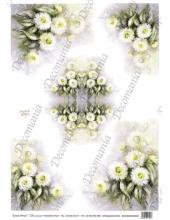"""Рисовая бумага Decomania AM7720 """"Маргаритки"""" (серия Sonie Ames), 35х50 см, 20 г/м2"""