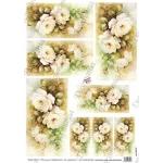 """Рисовая бумага Decomania AM7726 """"Розы"""" (серия Sonie Ames), 35х50 см, 20 г/м2"""
