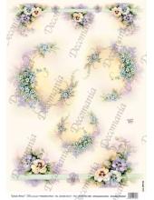 "Рисовая бумага Decomania AM7732 ""Незабудки"" (серия Sonie Ames), 35х50 см, 20 г/м2"
