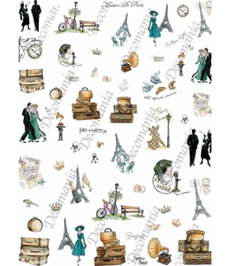 "Рисовая бумага Decomania мини, LMD 7047 ""Париж"", 24х34 см"
