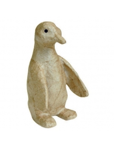 Заготовка фигурка из папье-маше Пингвин, 6,5х6,8х11,5 см, Decopatch (Франция)