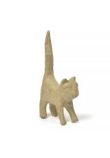 """Заготовка фигурка из папье-маше мини """"Кошечка с длинным хвостом"""", Decopatch"""