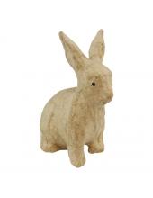 Заготовка фигурка из папье-маше Кролик сидит, 7,5х4,5х10,5 см, Decopatch (Франция)