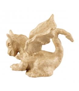 Заготовка фигурка из папье-маше Дракон, 6,3х12х10,5 см, Decopatch (Франция)