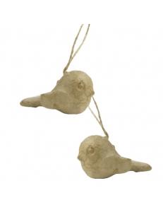 """Заготовки фигурки из папье-маше """"Снегири"""" на подвесе 8,5 см, 2 штуки, Decopatch"""