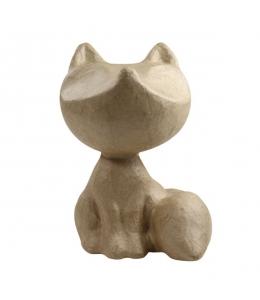 Заготовка фигурка из папье-маше Лисичка мини, 8,5х6х10 см, Decopatch (Франция)