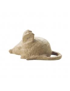 Заготовка фигурка из папье-маше Мышка, 11х6,5х6 см, Decopatch (Франция)