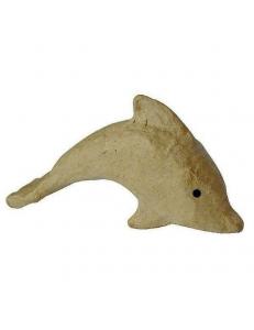 Заготовка фигурка из папье-маше Дельфин, 3,5х13х7 см, Decopatch (Франция)