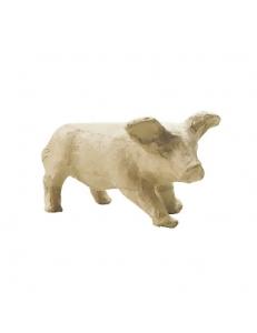 Заготовка фигурка из папье-маше Свинья, 6,5х6,8х11,5 см, Decopatch (Франция)