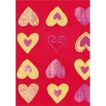 """Бумага для декопатч 234 """"Сердечки на красном"""", Decopatch (Франция), 30х40 см"""