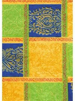 Бумага для декопатч Сине-желтые квадраты, Decopatch