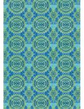"Бумага для декопатч 388 ""Орнамент зелено-синий"", Decopatch (Франция), 30х40 см"