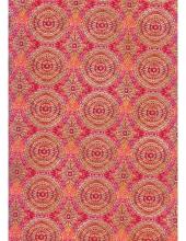 """Бумага для декопатч 393 """"Красные круги с золотом"""", Decopatch (Франция), 30х40 см"""