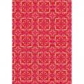 """Бумага для декопатч 396 """"Сердечки  красно-желтые"""",  Decopatch (Франция), 30х40 см"""