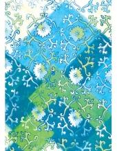 """Бумага для декопатч """"Узоры и лоскуты, голубой"""",  Decopatch (Франция), 30х40 см"""