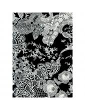 """Бумага для декопатч """"Кружево черно-белое"""", Decopatch (Франция), 30х40 см"""