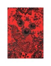 """Бумага для декопатч 436 """"Черное кружево на красном фоне"""", Decopatch (Франция), 30х40 см"""