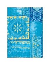 """Бумага для декопатч 476 """"Орнамент голубой с золотом"""", Decopatch (Франция), 30х40 см"""