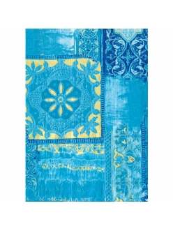 Бумага для декопатч 476 Орнамент голубой с золотом, Decopatch (Франция), 30х40 см