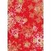 """Бумага для декопатч новогодняя Снежинки на красном"""", Decopatch, 30х40 см"""