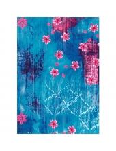 """Бумага для декопатч """"Розовые цветы на голубом фоне"""", Decopatch (Франция), 30х40 см"""