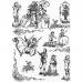 Бумага для декопатч 495 ХIХ век, черно-белый, Decopatch (Франция), 30х40 см