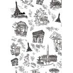 """Бумага для декопатч """"Париж черно-белый"""", Decopatch (Франция), 30х40 см"""
