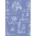 """Бумага для декопатч 519 """"ХIХ век, голубой фон"""", Decopatch (Франция), 30х40 см"""
