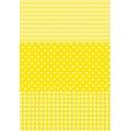"""Бумага для декопатч """"Полоска, горох, клетка желтый"""", Decopatch (Франция), 30х40 см"""