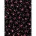 """Бумага для декопатч 565 """"Розовые цветы на черном"""", Decopatch (Франция), 30х40 см"""