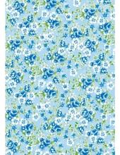 """Бумага для декопатч 569 """"Цветочки на голубом"""",  Decopatch (Франция), 30х40 см"""