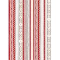 """Бумага для декопатч 575 """"Полоски красно-серые"""", Decopatch (Франция), 30х40 см"""