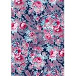"""Бумага для декопатч """"Розовые пионы на синем"""", Decopatch (Франция), 30х40 см"""