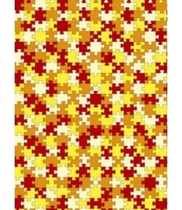 """Бумага для декопатч """"Желто-красные пазлы"""", Decopatch (Франция), 30х40 см"""