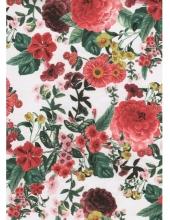 """Бумага для декопатч """"Крупные цветы на белом"""", Decopatch (Франция), 30х40 см"""