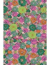 """Бумага для декопатч """"Цветы розово-бирюзовые"""", Decopatch (Франция), 30х40 см"""