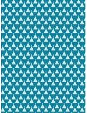 """Бумага для декопатч 703 """"Ёлки на голубом"""", Decopatch (Франция), 30х40 см"""