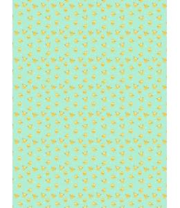 """Бумага для декопатч """"Лимончики на мятном"""", Decopatch (Франция), 30х40 см"""