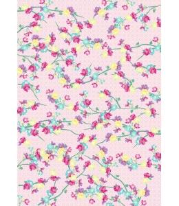 """Бумага для декопатч """"Веточки на розовом"""", Decopatch (Франция), 30х40 см"""