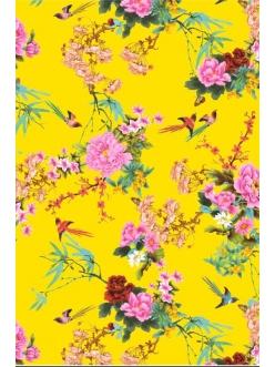 Бумага для декопатч Японский сад на желтом, Decopatch