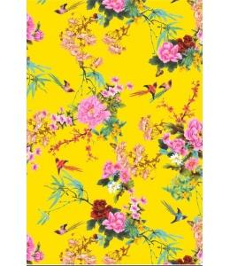 """Бумага для декопатч """"Японский сад на желтом"""", Decopatch (Франция), 30х40 см"""