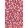 """Бумага для декопатч """"Ситцевые цветы на красном"""", Decopatch (Франция), 30х40 см"""