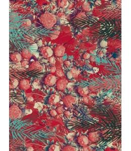 """Бумага для декопатч """"Красные пионы в папоротнике"""", Decopatch (Франция), 30х40 см"""